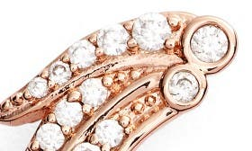White Cz/ Rose Gold swatch image