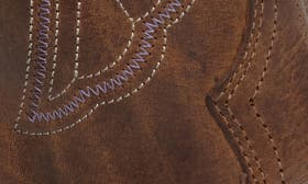 Distressed Brown Leather swatch image