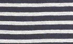 Navy/ Heather Grey Stripe swatch image