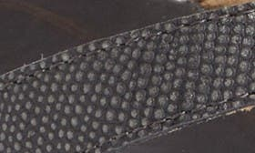 Pewter/ Black Leather swatch image