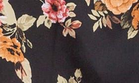 Black/ Gold Floral swatch image