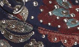 Blue Multi Brocade Fabric swatch image