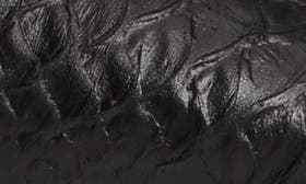Black Embossed Leather swatch image