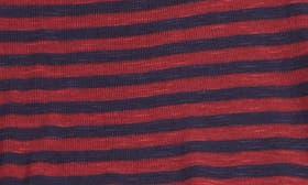 Red Tibetan- Navy Mini Stripe swatch image
