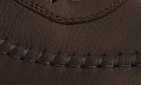 Coffee/ Marine Leather swatch image