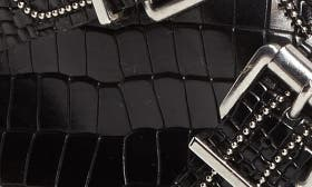 Black Croc Embossed Leather swatch image