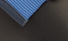 Black/ Navy Leather swatch image