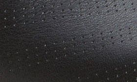 Black/ Granite Green Leather swatch image