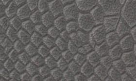 Grey Snake Print Leather swatch image