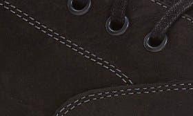 Black Milled Nubuck Leather swatch image
