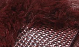 Wine Faux Fur swatch image