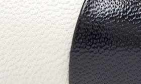 Off White/ Black Leather swatch image