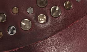 Marsala Red Leather swatch image