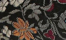 Black Floral Brocade swatch image