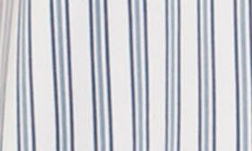 Ivory/ Blue Pin Stripe swatch image