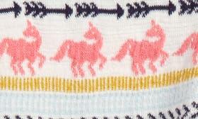 Ivory Egret Unicorn Fairisle swatch image