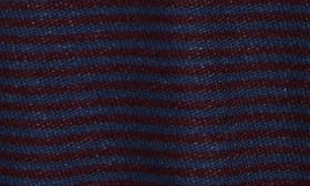 Navy Denim- Burgundy Stripe swatch image