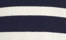 Navy- Ivory Wide Stripe swatch image