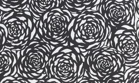 Black- Ivory Graphic Roses swatch image