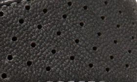 Black Perforated Leather swatch image