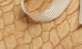 Beige Print Faux Leather swatch image
