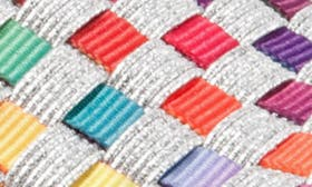 White Bright/ Multi Leather swatch image