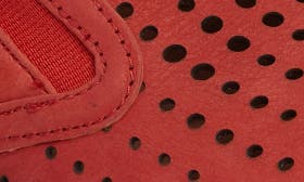 Hot Red Nubuck Leather swatch image