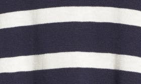 Navy Blazer- Ivory Mini Stripe swatch image selected