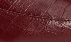 Wine Croco Leather swatch image