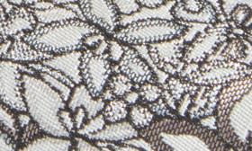 Black/ White Floral Fabric swatch image