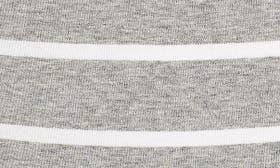 Grey Heather- Ivory Stripe swatch image