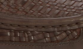 Dark Brown Woven Leather swatch image