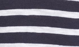 Navy Peacoat- White Stripe swatch image