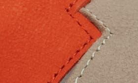 Poppy Orange/ Cloud Leather swatch image