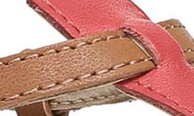 Hot Coral/ Saddle Leather swatch image