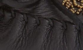 Black Deerskin Leather swatch image