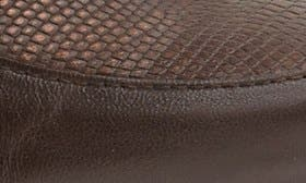 Brown Lizard Print Leather swatch image