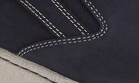 Navy Milled Nubuck Leather swatch image