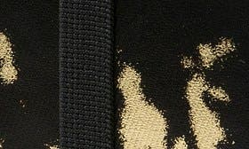 Black/ Gold Leather swatch image