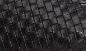 Black Elba Intreccio Leather swatch image