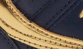 Navy/ Gold Faux Leather swatch image