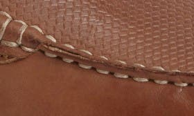 Cognac Embossed Leather swatch image