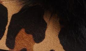 Cognac Printed Calf Hair swatch image