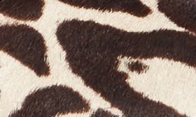 Black/ White Leopard Hair Calf swatch image