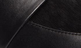 Black Leather/ Calf Hair swatch image