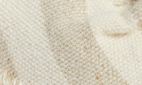 Natural Striped Linen Fabric swatch image