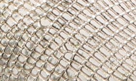 Natural Metallic Print Leather swatch image