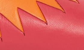 Azalea/ Orange Blossom Leather swatch image