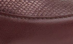 Wine Lizard Print Leather swatch image