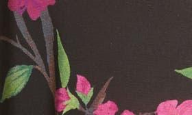 Sakura Floral/ Black swatch image
